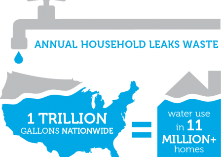 Annual household leaks graphic