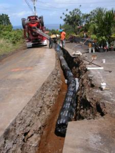 Waterline installation