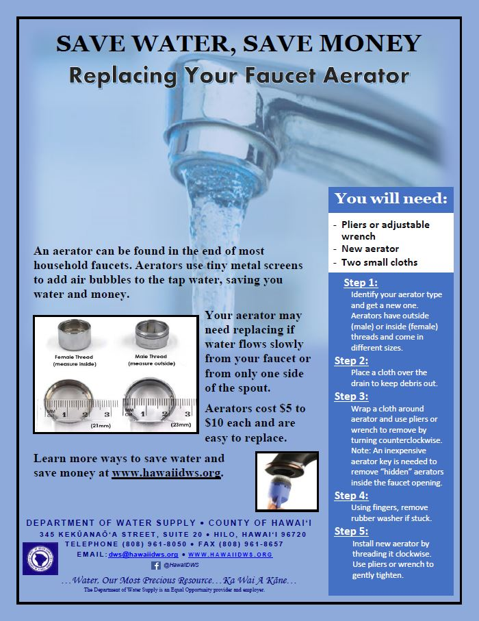 Replacing Your Faucet Aerator